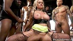 Alena Croft - GangBang Big Black Cock