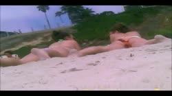 Legs open at beach